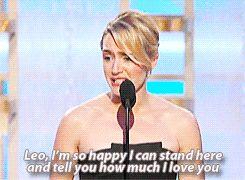 Cuando Kate ganó su Globo de Oro, su discurso de aceptación fue más romántico que la mayoría de los votos de  bodas.