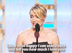 When Kate won her Golden Globe, her acceptance speech was more romantic than most wedding vows.