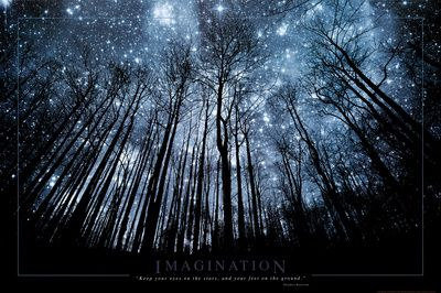 Imagination Keep Your Eyes on the Stars and Your Feet on the Ground Poster at AllPosters.com