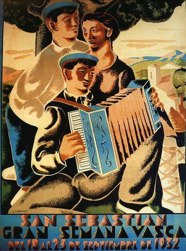 San Sebastian 1932 Spanish Song Music Spain Europe Vintage Poster Repro Free s H   eBay