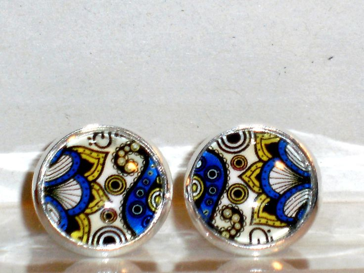 Ohrstecker - Ohrstecker Ethno Ohrringe Damen Ohrschmuck Glas - ein Designerstück von ausgefallene-Ohrringe bei DaWanda
