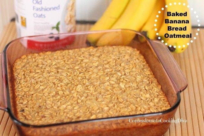 baked banana bread oatmeal