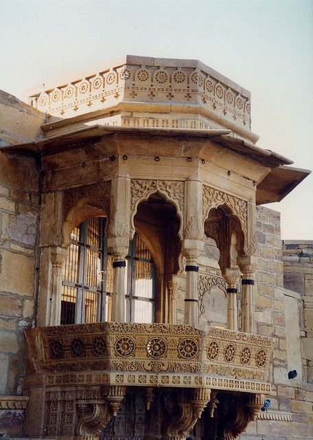 A sense of an ancient beauty,never to be found again-  Balcony of Jaisalmer Fort, Rajasthan, India