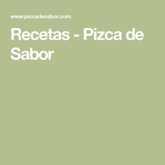 Recetas - Pizca de Sabor
