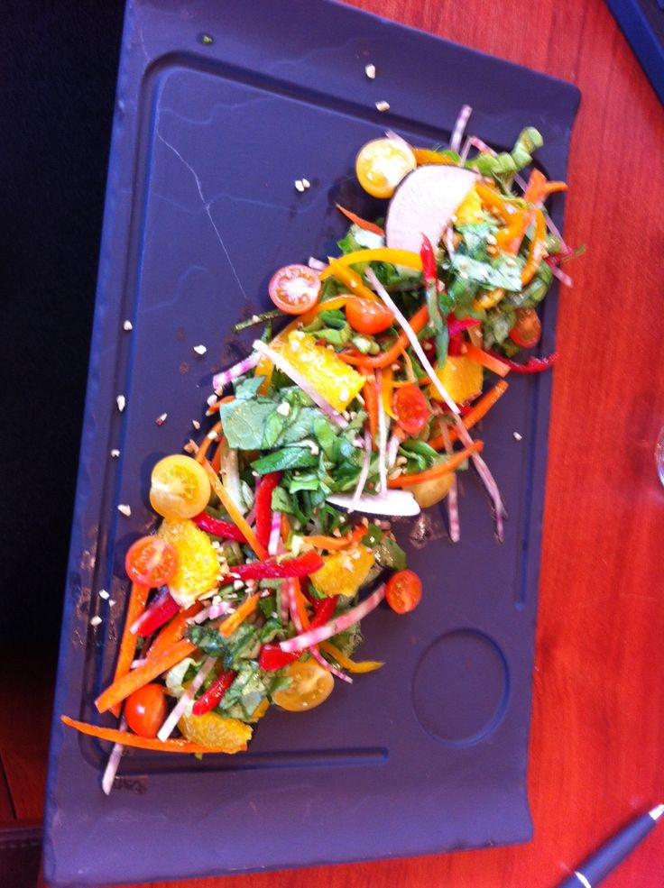salade de légumes croquants @hotel new solarium courchevel