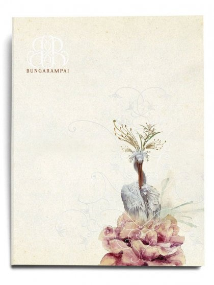The elegant & inviting menu book for Bunga Rampai, by @LeBoYe #Design, #Indonesia