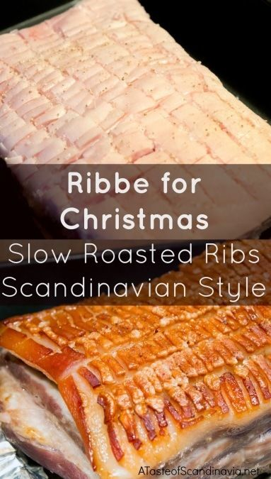 Ribbe is a traditional dish eaten at Christmas in Norway and Denmark. Here is an extra juicy slow roasted version of this must have on the Scandinavian Christmas Table. Best of all - it's very easy to prepare!