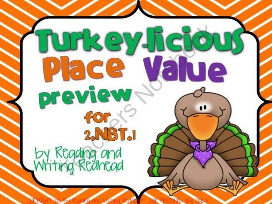 FREEBIE Turkey-licious Place Value for 2NBT1 Addresses ...