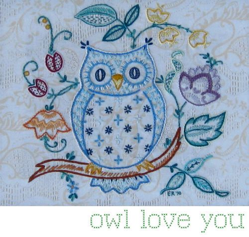 Owl embroidery!