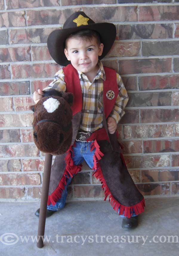 Tracy's Treasury: DIY Cowboy Sheriff Costume  - Here's a sewing tutorial to make a dress up costume for the cutest little sheriff in town!