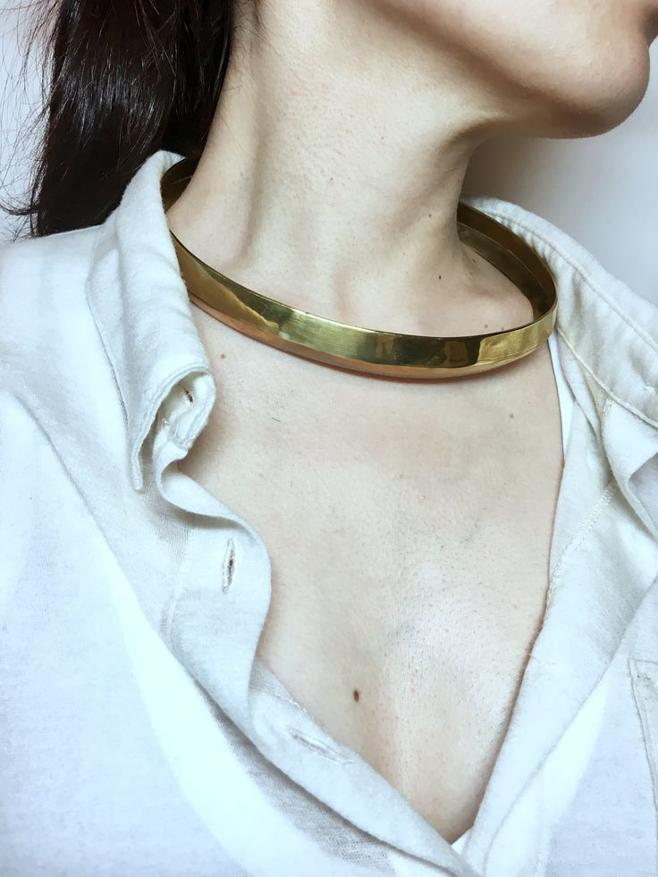 100% cashmere shirt Bullet brass choker  Simplicity depicts personality the most.   Shirt and choker both available in dhomekater.com