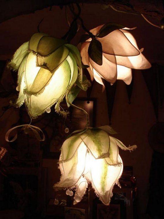 DIY lotus lamps