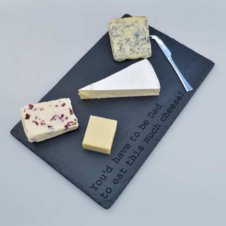 our large engraved slate cheese board is a great gift for the cheese loving Dad with a sense of humour & 7 best Our great engraved cheeseboards and serving platters images ...