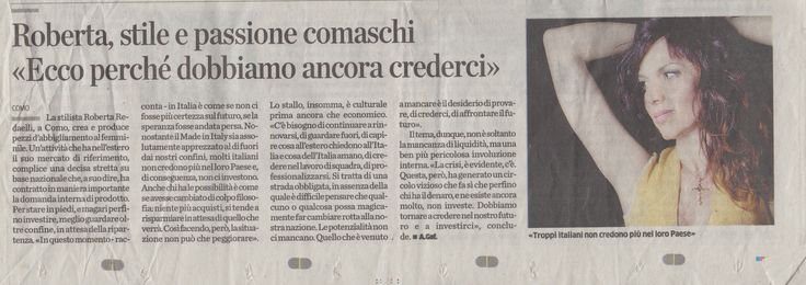 #interview #intervista #RobertaRedaelli #madeinitaly #Italy #moda #fashion #design #style #stylist