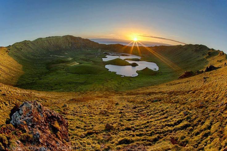 Corvo Island, Azores Archipelago, Portugal.