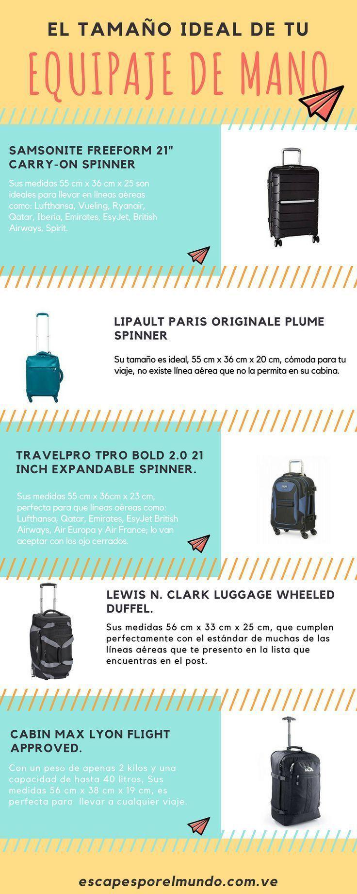 Guía 2020 Tamaño Ideal De La Maleta De Mano Escapes Por El Mundo Equipaje De Mano Maleta De Mano Equipaje De Mano Avion