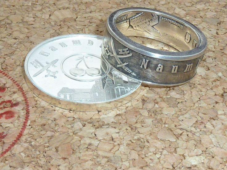 Ein herrlicher Naumburger Ring, aus einer Münze gefertigt in Handarbeit. Aus 999 Feinsilber! Ein echtes Naumburger-Unikat!