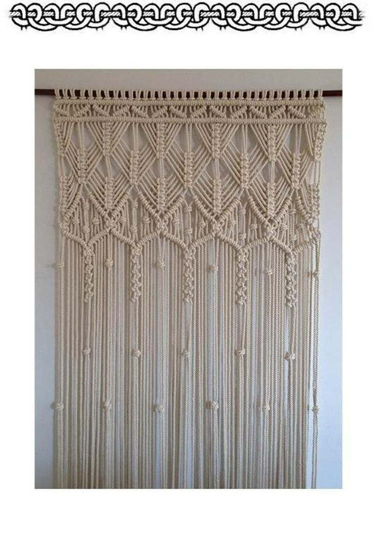 25 Best Cortinas Macrame Images On Pinterest Weaving
