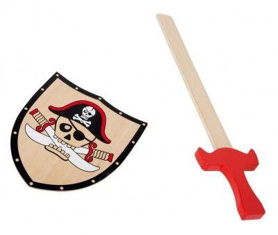 Small Foot drevený Pirátsky štít a meč Barbarosa