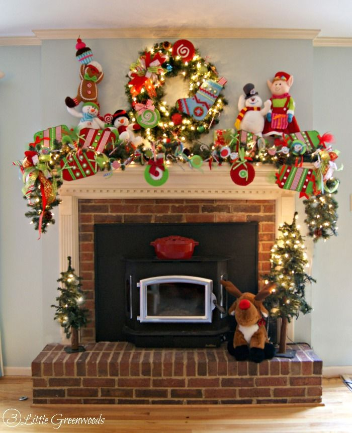 Mantle Decorations Christmas: A Very Merry Christmas Home Tour