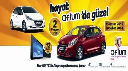 Afium Outlet Çekiliş Kampanyası - Afium Outlet Peugeot 208 Çekilişi http://www.kampanya-tv.com/2014/02/afium-outlet-cekilis-kampanyasi-afium-outlet-peugeot-208-cekilisi.html