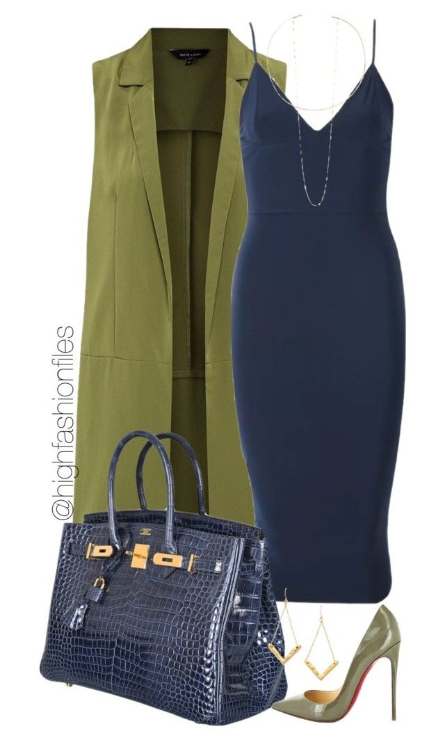 """Fall Out"" by highfashionfiles ❤ liked on Polyvore featuring moda, Hermès, Christian Louboutin, Gorjana y Jennifer Zeuner"