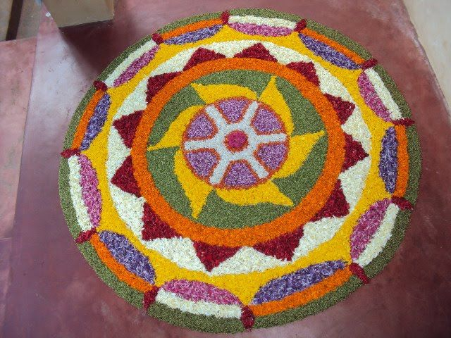 Here are some very beautiful flower rangoli designs for Diwali, Onam, Pongal, and Durga puja. Flower rangoli are easy to make and very gorgeous to look at.