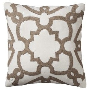 "Threshold™ Lattice Toss Pillow - Cream (18x18"")"