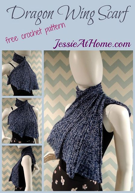Crochet Dragon Wing Scarf | Jessie At Home