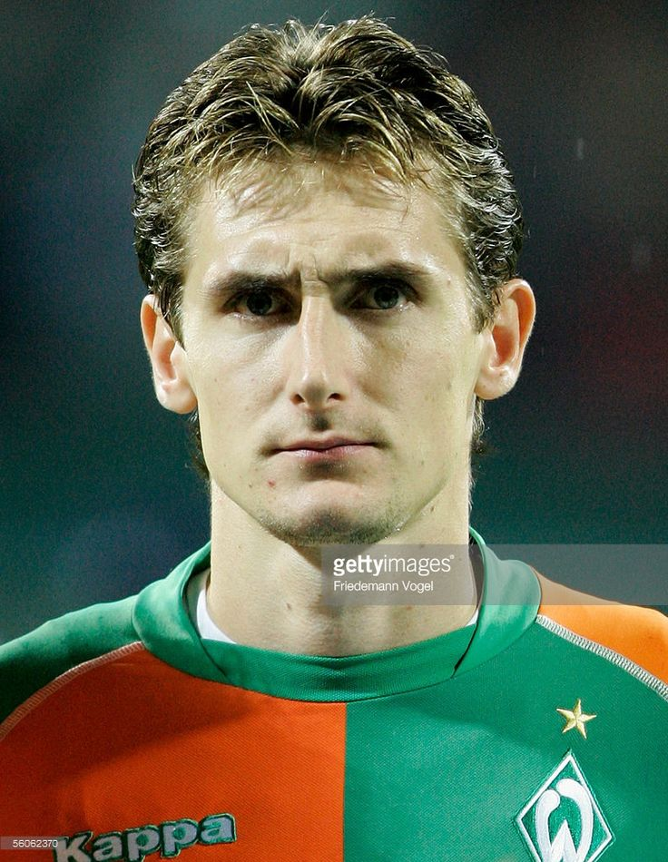 Miroslav Klose of Werder before the Champions League Group C match between Werder Bremen and Udinese Calcio at the Weser stadium in Bremen, November 2 , 2005 in Bremen, Germany.