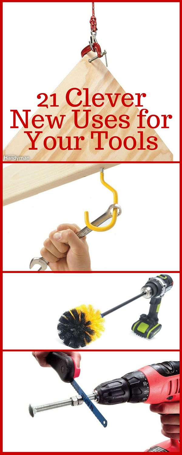 21 Clever New Uses for Your Tools We've all done it: When the right tool for the job isn't nearby—or doesn't exist—we do the best we can with what we've got. Here are examples of creativity at its finest in these 21 new uses for old tools. http://www.familyhandyman.com/tools/clever-new-uses-for-your-tools