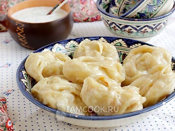 Манты с капустой и картофелем, рецепт с фото.