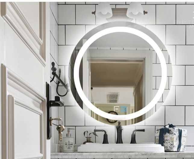 Round Bathroom Wall Led Decor Mirror With Sensitive Touch Strong Packing Led Mirror Bathroom Round Mirror Bathroom Wooden Mirror Frame