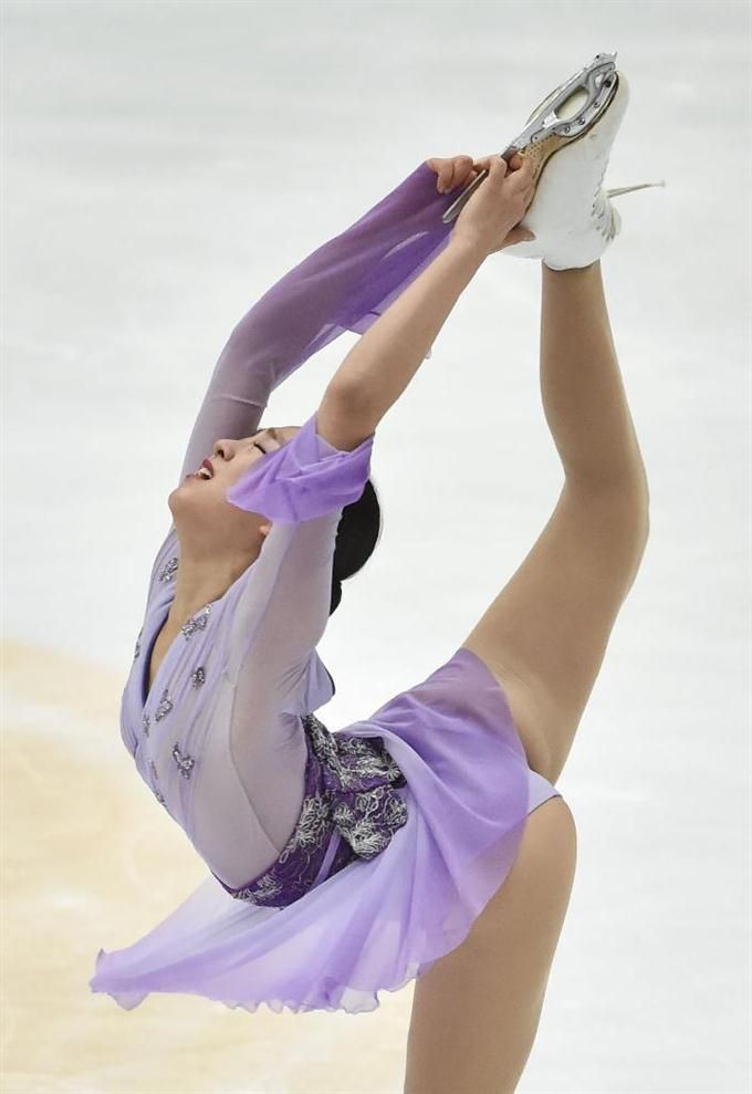 Mao Asada    女子フリーで演技する浅田真央 =北京(共同)