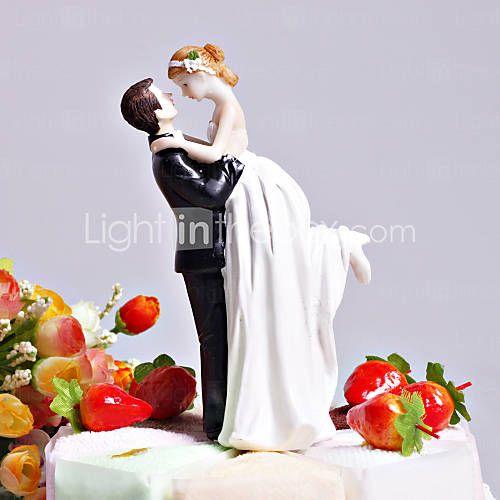"""[EUR € 8.24] """"L'amour balayé"""" jeune mariée et le marié de gâteau de mariage Topper"""