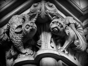 Grotesque sulla St Mary's Cathedral, Edinburgo, Scozia