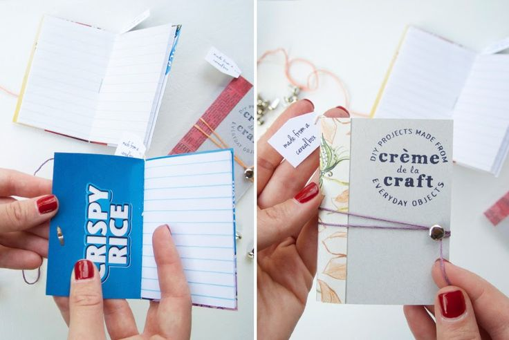 My DIY Cereal Box Notebook Business Cards