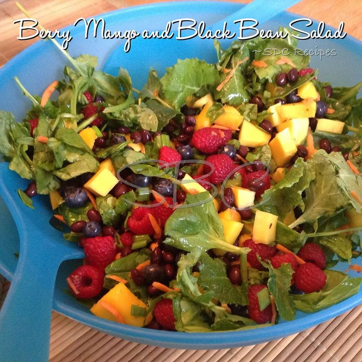 This one looks really yummy <3  a must try for me :)  Berry, Mango and Black Bean Salad