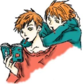 Reading - Kaoru and Hikaru by Ria-catboy-wannabe on DeviantArt