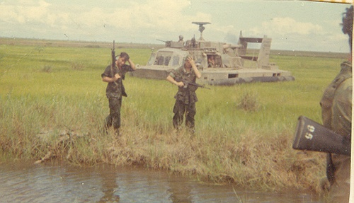 "E/3-7 operating from ""Hydrofoils"" near Can-Giouc after being op-conned to the 9th Infantry Division in late 1969. (via Echo Recon Platoons)"
