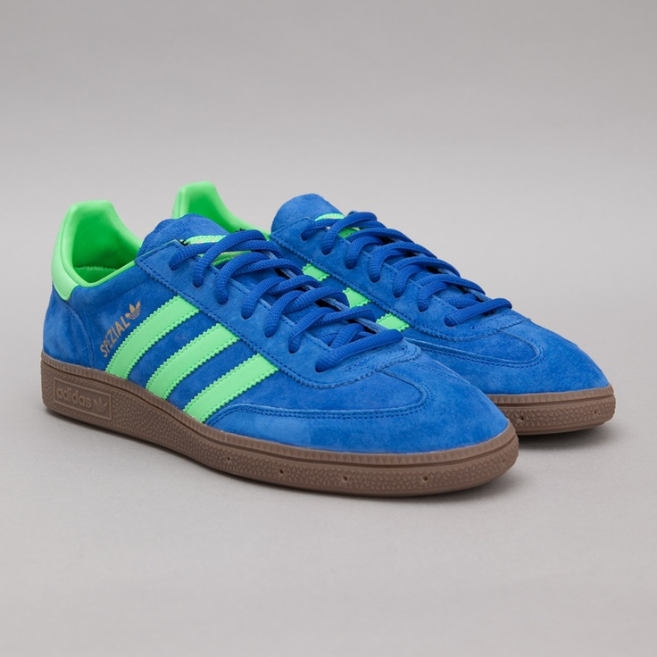 adidas spezial blue and green