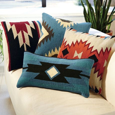 *found them cheaper and a wider selection on Zazzle Aztec Throw Pillows, Signals Catalog //