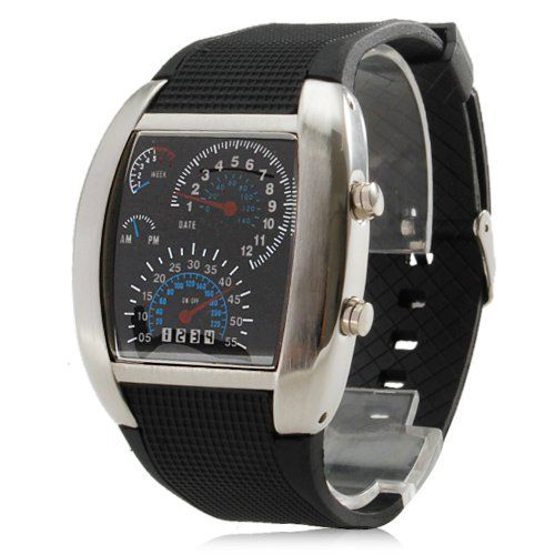 SILIKON DOT MATRIX LED WATCH HERREN UHR DAMEN UHR BINÄRE UHR SZ-DESIGN - http://schmuckhaus.online/sz-design/silikon-dot-matrix-led-watch-herren-uhr-damen-uhr