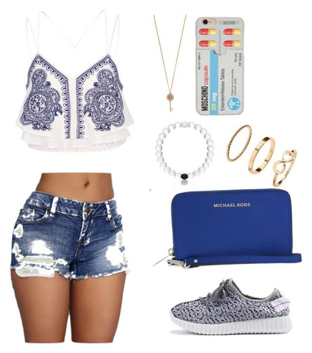 """""""Anas Avalon"""" by camryngarland ❤ liked on Polyvore featuring River Island, MICHAEL Michael Kors, H&M, Aéropostale and Moschino"""