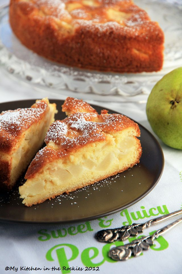 Easy French Dessert – Gâteau Fondant Aux Poires – French Pear Tart