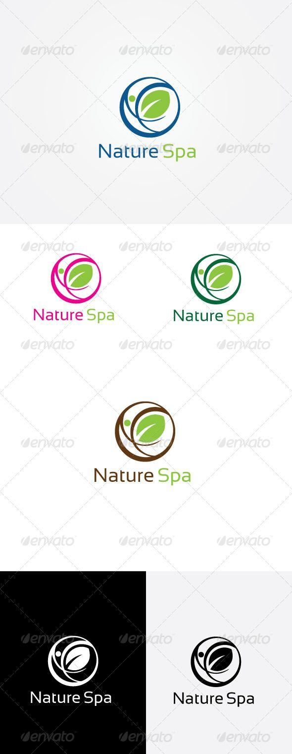 Spa Nature Logo Design Template Vector