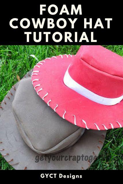 Simple foam cowboy hat tutorial for costumes or dress up  halloween   dressup  cowboyhat  halloweencostume  costume 448e19ed002