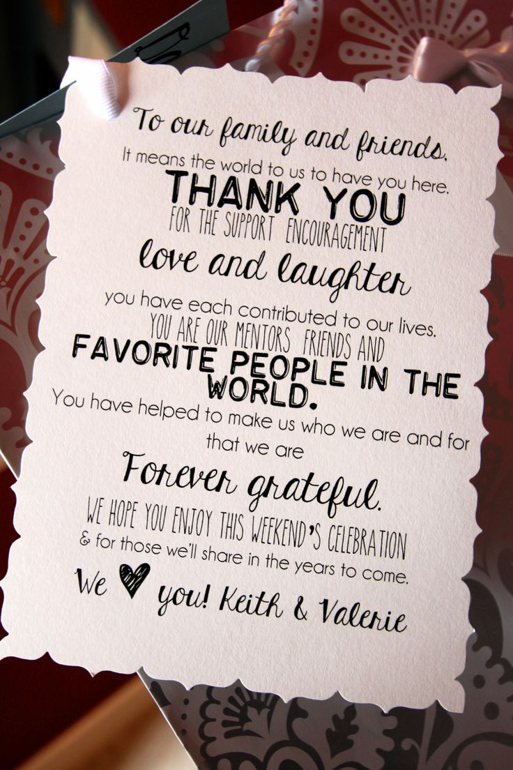 how to write thank you notes for wedding gift cards%0A Destination wedding welcome note giftbag name tagsI designed and put  together
