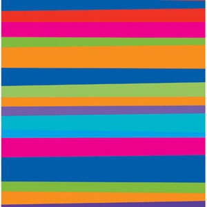 Birthday Stripes themed rainbow beverage or cocktail size napkins