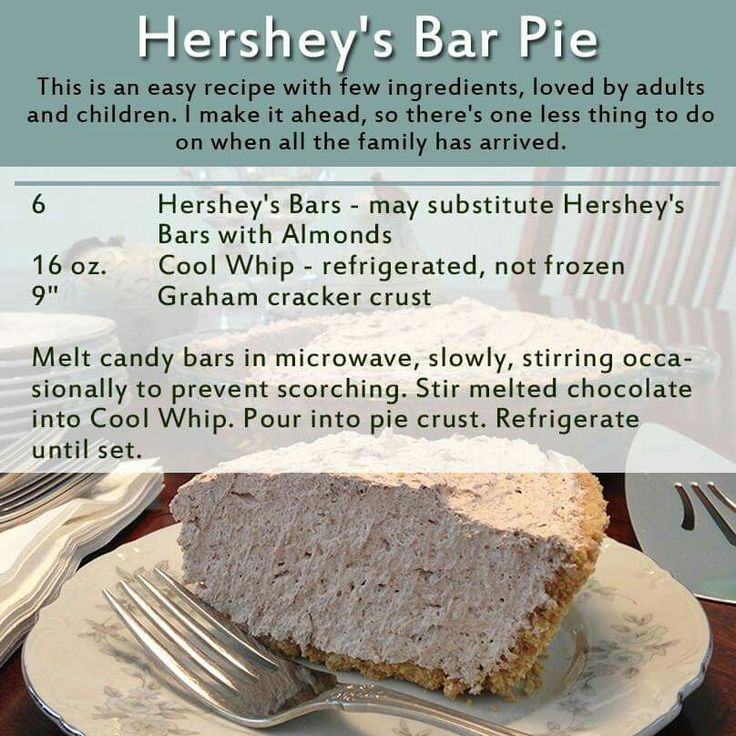 Hershey Bar And Cool Whip Pie 93